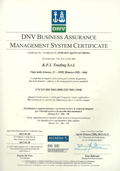 K.F.I. UNI EN ISO 9001:2008 certification document